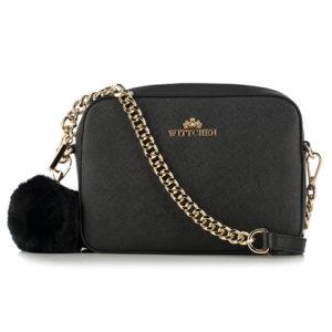 czarna torebka na łańcuszku z kolekcji Elegance