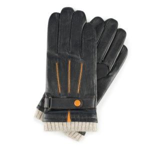 czarne rękawiczki z zatrzaskiem