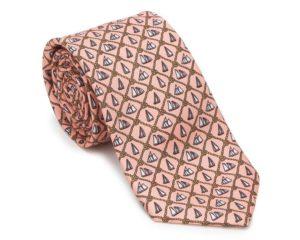 krawat z motywem żeglarskim