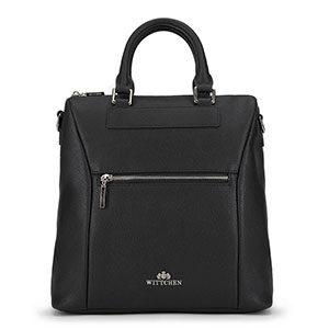 skórzany plecak w kolorze czerni