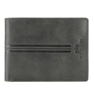 szary portfel z nubuku