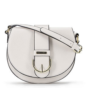 biała torebka typu listonoszka