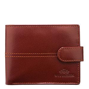 brązowy portfel anty-RFID
