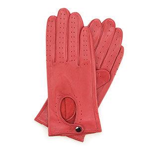 czerwone rękawiczki damskie