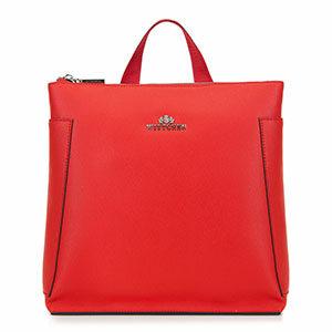 walentynkowe stylizacje: czerwony plecak damski