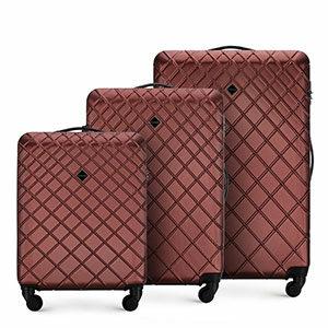 czerwony zestaw walizek z kolekcji Classic