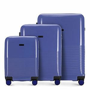 fioletowy zestaw walizek z kolekcji Sky