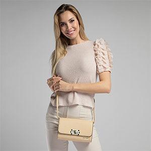 jasnobeżowa torebka damska WITTCHEN