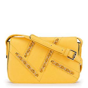 żółta torebka z łańcuszkiem z kolekcji Young