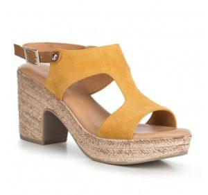 żółte sandały damskie