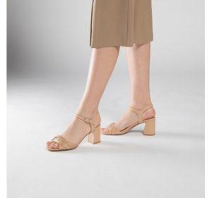 beżowe sandałki damskie