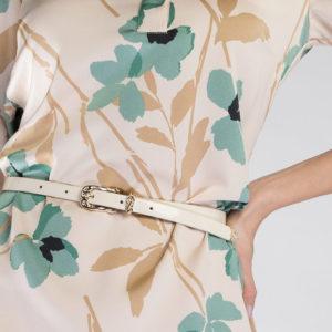 prezent dla dziewczyny: biały pasek ze skóry lakierowanej