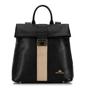czarno-złoty plecak z kolekcji Elegance