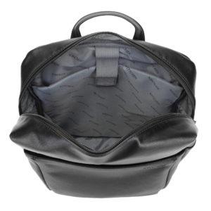 czarny plecak męski 90-3P-506-1 z poliuretanu