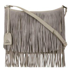 szara torebka z frędzlami z kolekcji Elegance