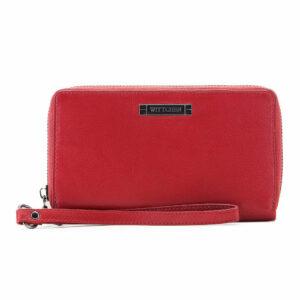 Duży skórzany portfel damski