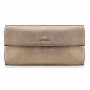 Styl glamour: złota torebka