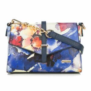 Niebieska torebka w kwiaty
