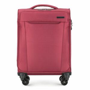 Miękka czerwona walizka kabinowa