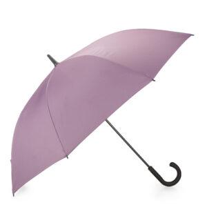 Długi parasol w kolorze liliowym