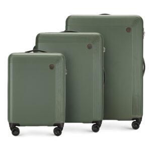 Zestaw zielonych walizek