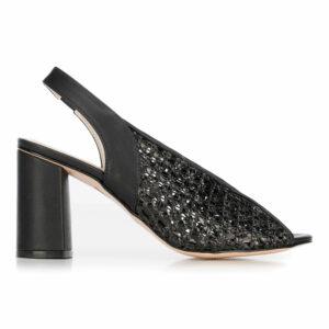 Plecione sandały z koziej skóry