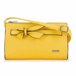 Żółta torebka z kokardką