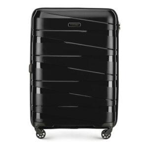 Czarna walizka z polipropylenu
