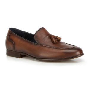 Męskie brązowe loafersy