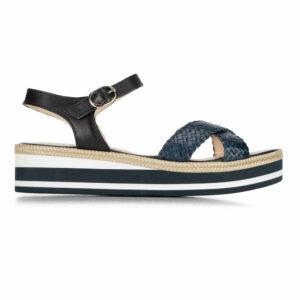 Skórzane sandały na platformie