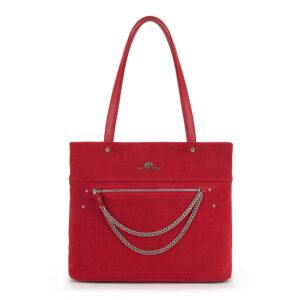 Czerwona torebka z detalem