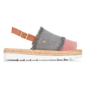Plecione sandały w stylu casual