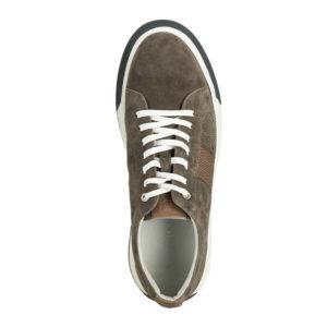 Ciemnoszare buty męskie z zamszu