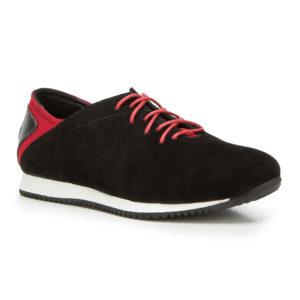 Czarne buty sportowe ze skóry naturalnej