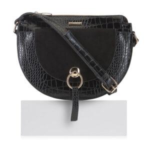 Saddle bag z krokodylej skóry