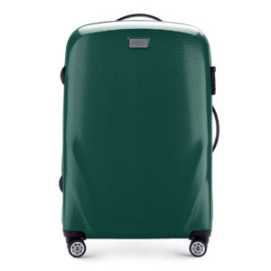 Średnia walizka na kółkach z policarbonu