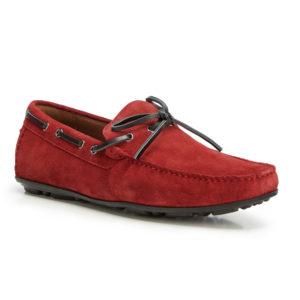 Nubukowe męskie buty żeglarskie