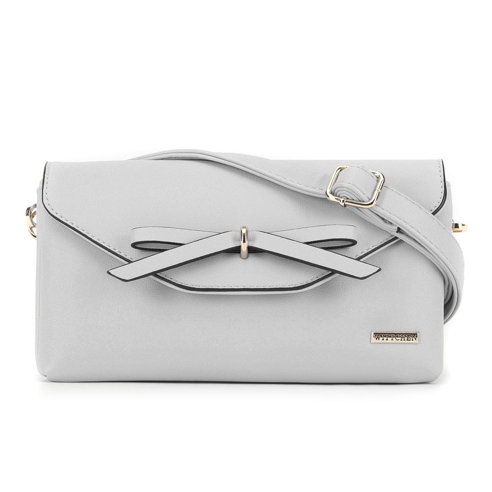 Biała kobieca torebka z ekoskóry