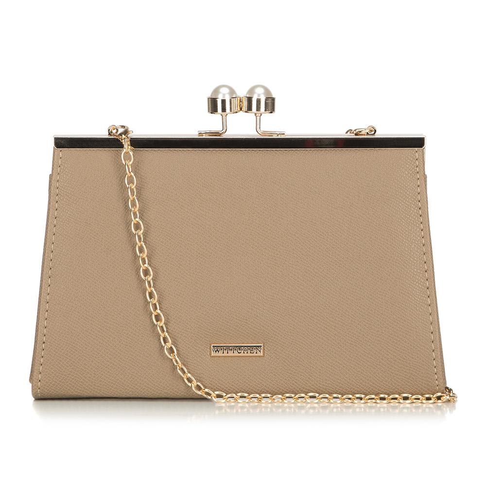 Złota elegancka torebka