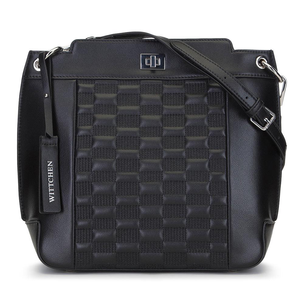 Skórzana torebka z pikowaniem