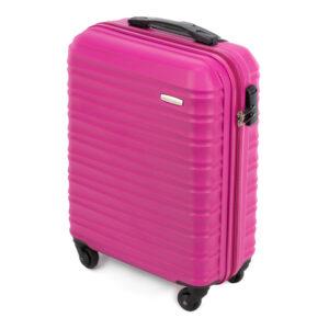 Розовый чемодан ручная кладь