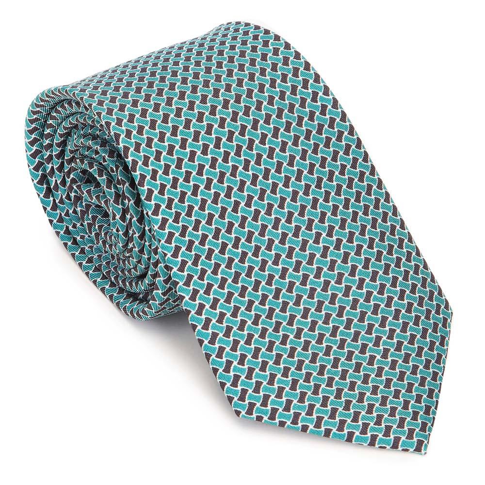 Wzorzysty krawat z jedwabiu