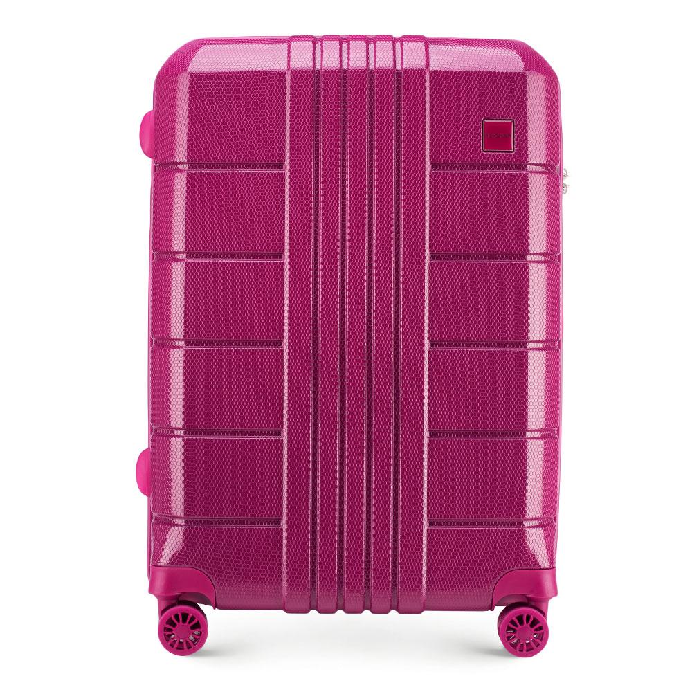 Różowa twarda walizka dla nastolatki