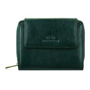 Zielony skórzany portfel dla niej