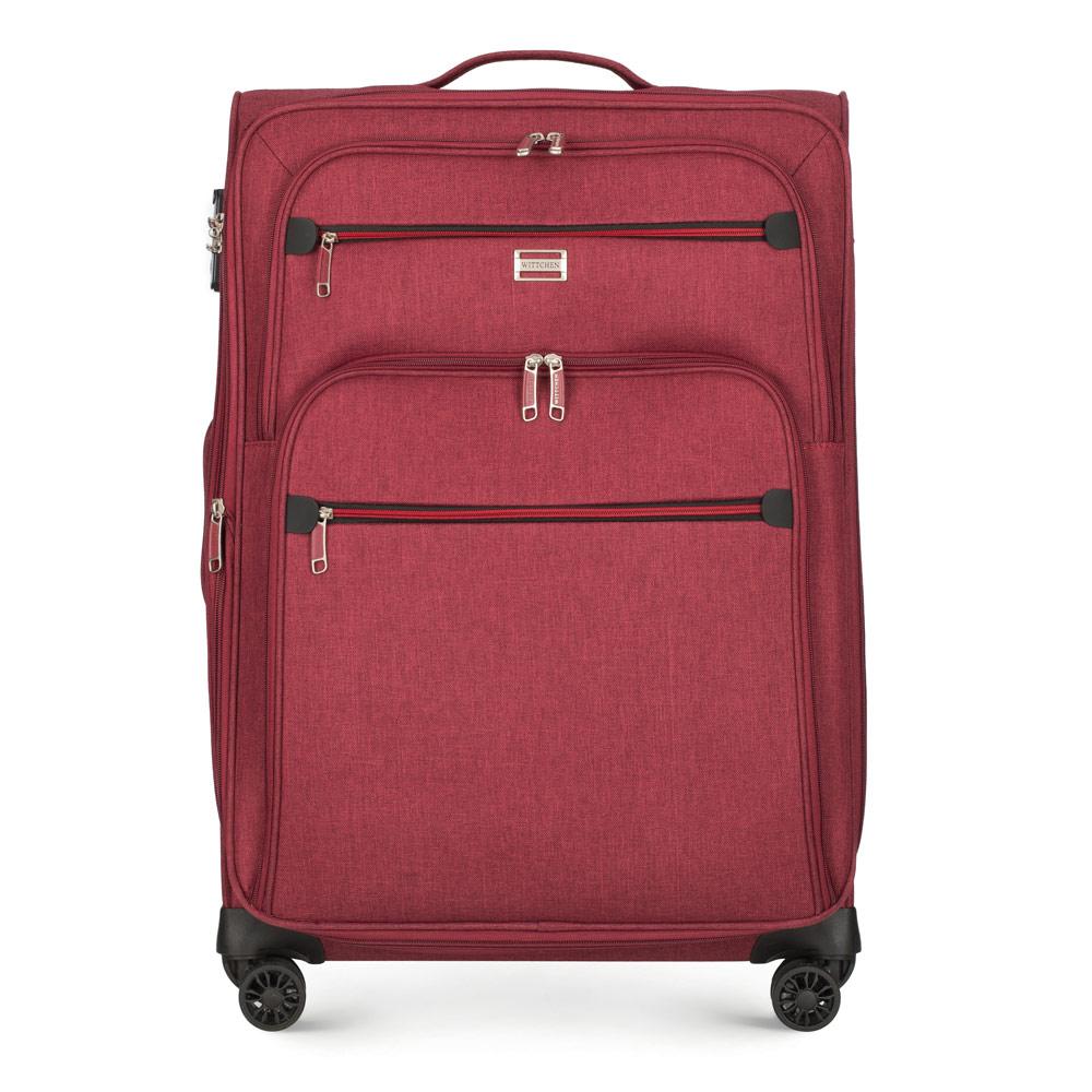 Miękka czerwona walizka dla nastolatka