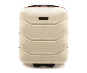 Kremowa walizka kabinowa dla niej