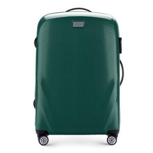 Zielona walizka średniej wielkości