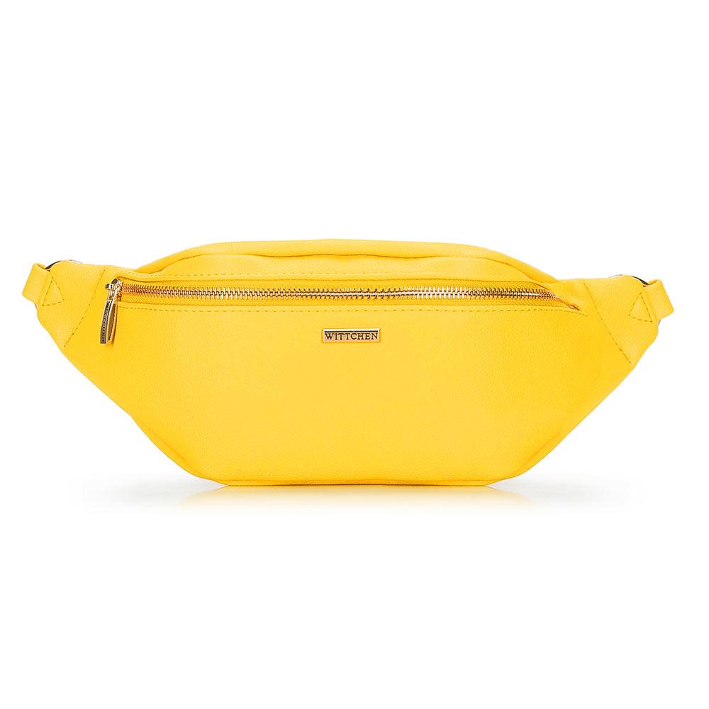 Żółta torebka nerka