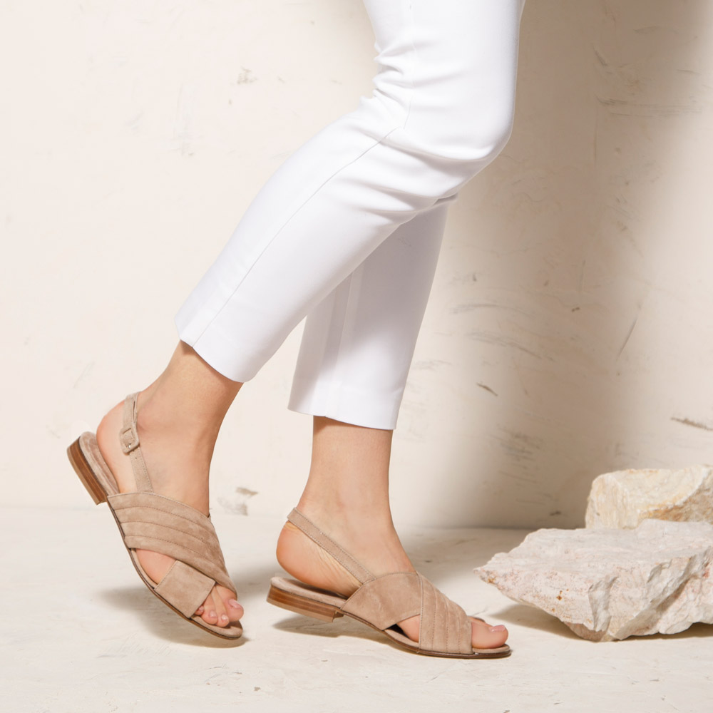 Sandalen für Damen aus Veloursleder