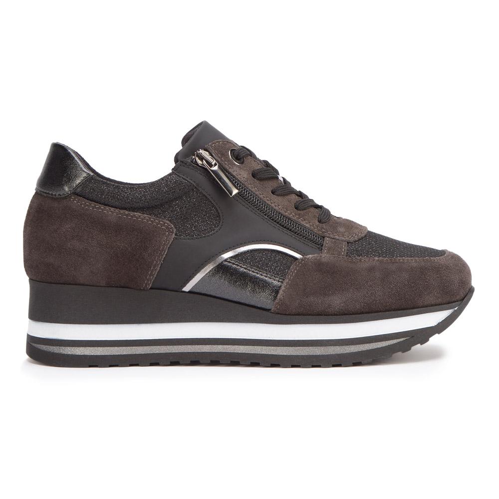 Damskie sneakersy zamszowe z suwakiem